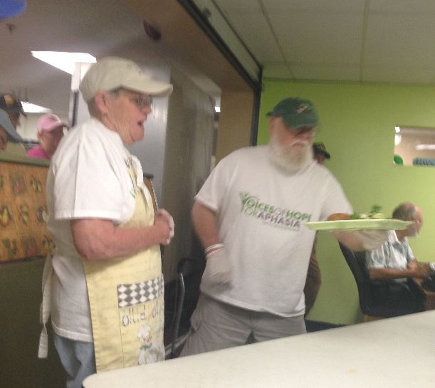 Volunteering Serving Meals   Voices of Hope for Aphasia