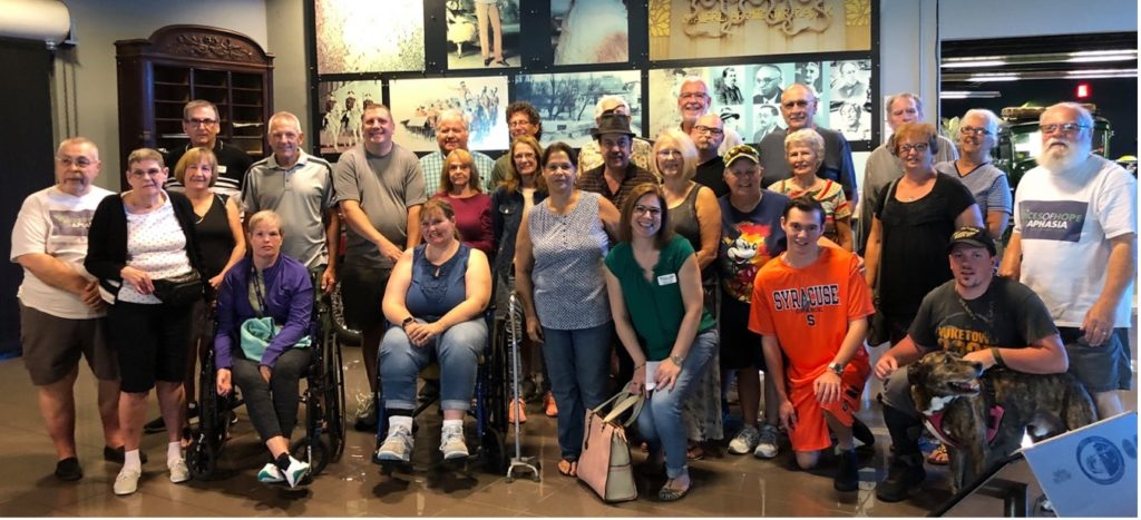 Voices of Hope members at the automobile museum